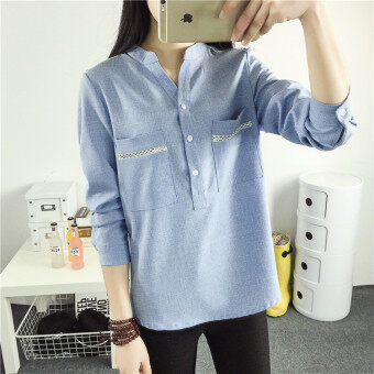 Loose Spring and Autumn New style Plus-sized women's shirt