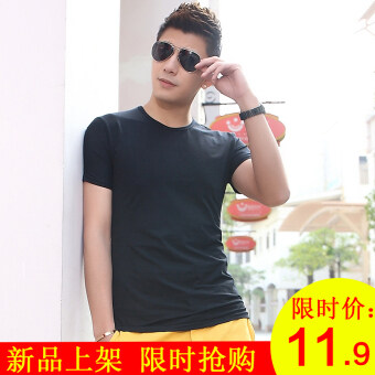 Loose Teenager summer short sleeved t-shirt (Blank black (limited 11.90 yuan)) (Blank black (limited 11.90 yuan))