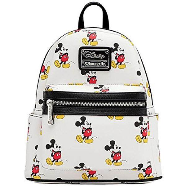 Loungefly Mickey All Over Mini Backpack White - intl