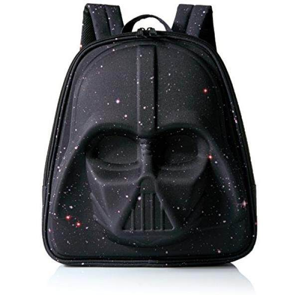 Loungefly Star Wars Galaxy Print Darth Vader 3d Molded Backpack, Black - intl