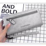 WLT-061 Love H3090 Woman Fashion Big Space Coin Card Zipper Wallet Purse [GRAY/Ready Stock]