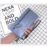 WLT-061 Love H3090 Woman Fashion Big Space Coin Card Zipper Wallet Purse [LIGHT BLUE/Ready Stock]