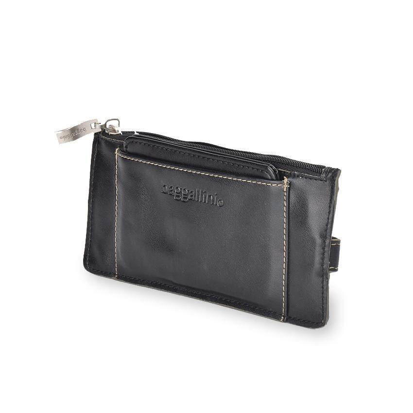 Lulugift  Men Leather Thin Wallet with Card Holder