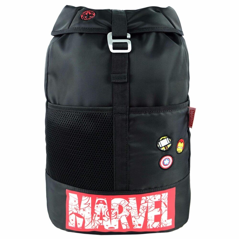 Marvel Kawaii VKB1716 18 Inch Trendy Backpack- Black