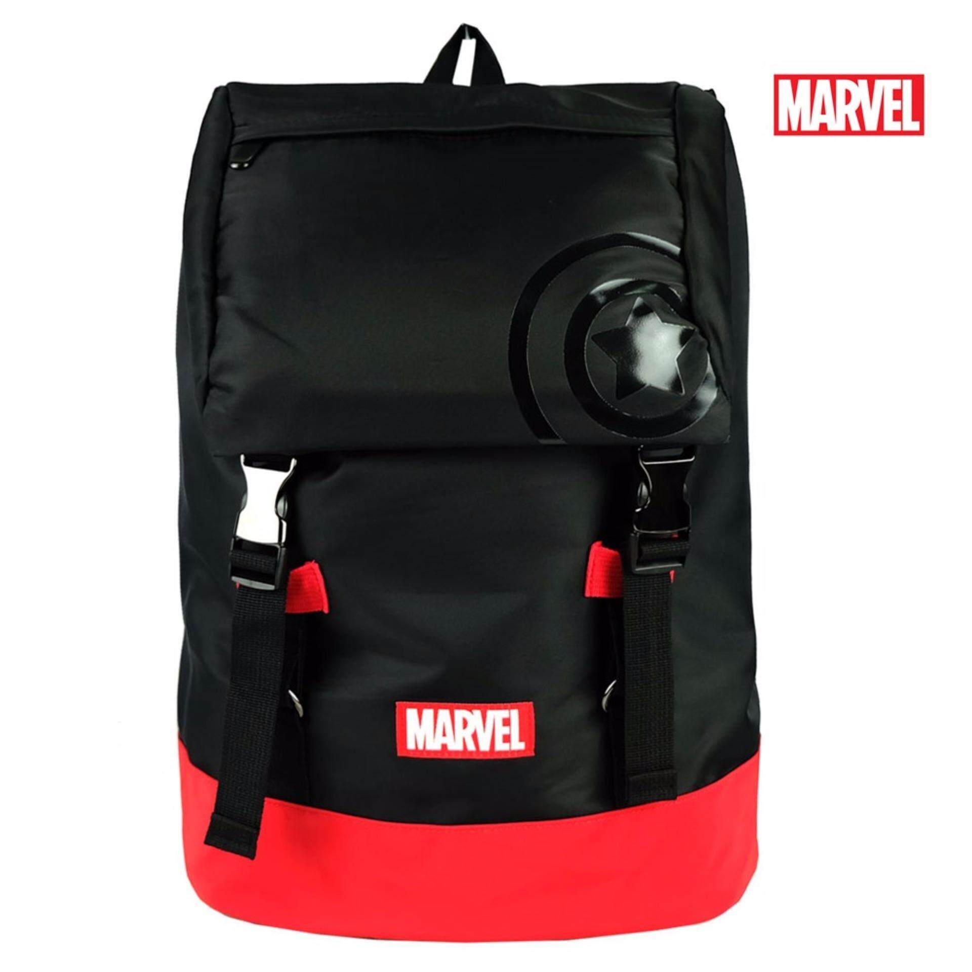 Marvel Kawaii VKB1732 18 Inch Trendy Backpack- Black/Red
