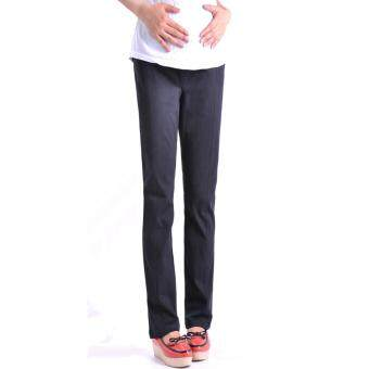 Harga Maternity Long Pants - Diya Black Straight Cut