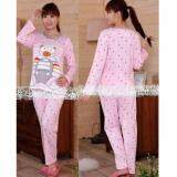Maternity Wear Pyjamas Set Comfortable for Mommy to Be - Design Pink Bear