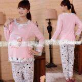 Maternity Wear Pyjamas Set Comfortable for Mommy to Be - Design Pink Sheep