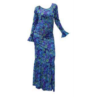 Harga Melissa Mermaid Muslimah Dress Batik Flower (Blue Flower)