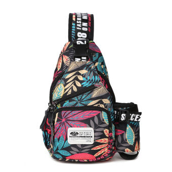 Harga Men and women youth MapleLeaf printed chest pack (Moonlight jungle)