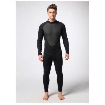 Danlong Pria Seluruh Badan/Satu Potong Super-Baju Basah Regang untuk Menyelam dan Berenang