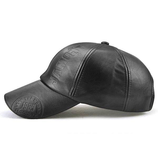 Detail Gambar Pria Kualitas Tinggi Seperti Kulit Hangat PU Topi Baseball  Kasual Tahan Angin Moto Topi Kilas Balik Bisa Diatur-Intl Terbaru b531b3011e
