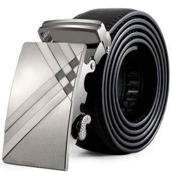 Men Leather Automatic Buckle Belts Fashion Waist Strap BeltWaistband
