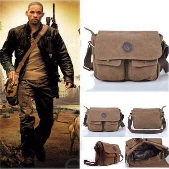 Men Military Vintage Canvas Satchel School Shoulder Messenger Bag