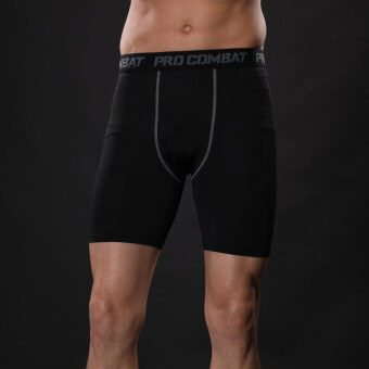 Men pro sports Basketball Training stretch breathable slim fit clothing (Fitness shorts)
