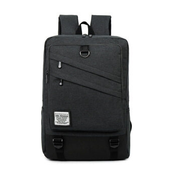 Men's computer bag 15.6-inch laptop backpack female college students school bags casual travel shoulder bag (Black 18 inch)