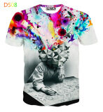 ขาย ซื้อ Men S 3D European Fashion Cool T Shirt Color Main Pic ใน จีน