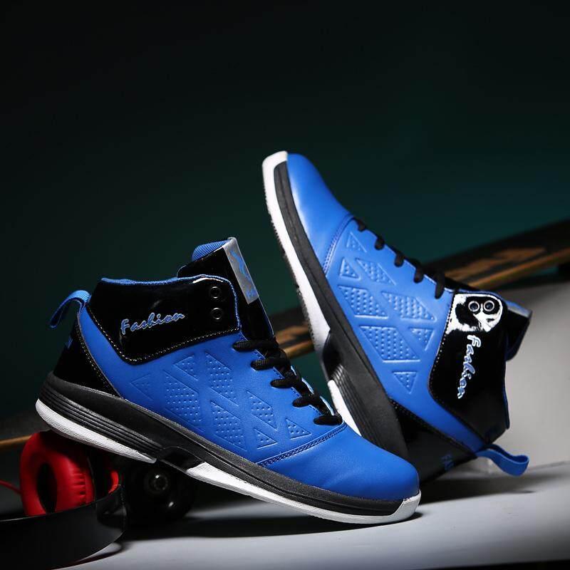 Sepatu Keranjang Pria 2018 Kedatangan Baru Keranjang Sepatu Pria Biru Pria Keranjang Sneakers Pertengahan Terbaik Sport Bot Pria Bot- internasional