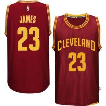 Harga Men's Cleveland Cavaliers LeBron James #23 NBA BasketballBreathable Jerseys