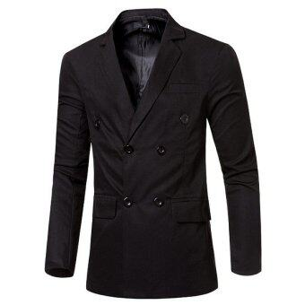 Mens Double Breasted Suit Coat (Black) | Lazada Malaysia