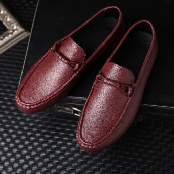 Harga Men's fashion casual flat leather shoes Loafers doug shoes
