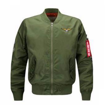 Mens Solid Flight Collar Bomber Jacket | Lazada Malaysia