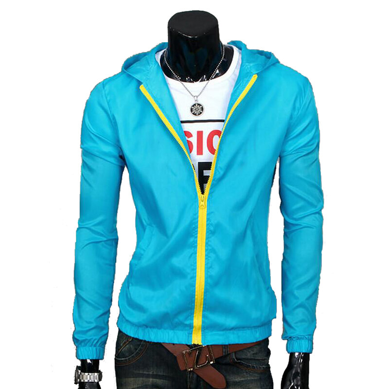 Mens Waterproof Sports Jacket Thin (Light Blue) | Lazada Malaysia