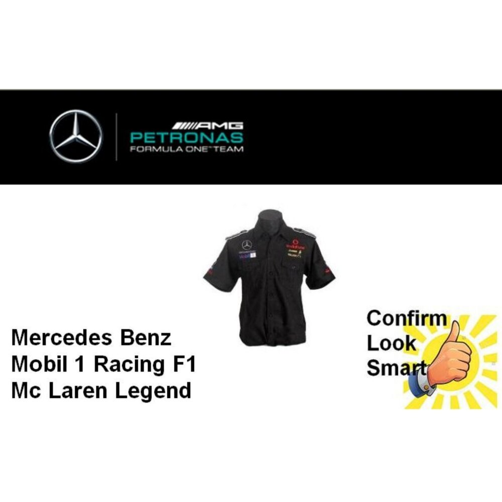 Mercedes Benz McLaren F1 Shirt Black Mobil One Sport Racing Smartest Wear
