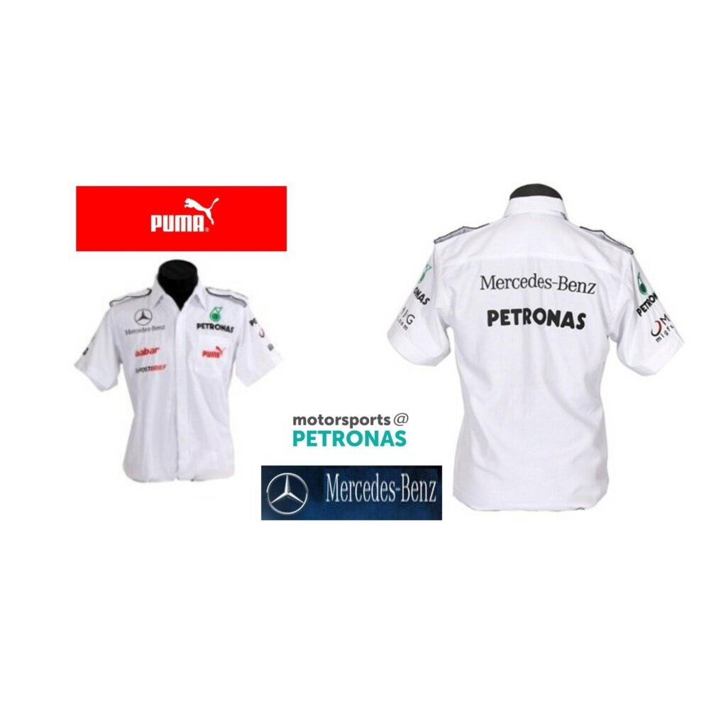 Mercedes Benz Petronas Winner Racing Team F1 Shirt WHITE By PUMA