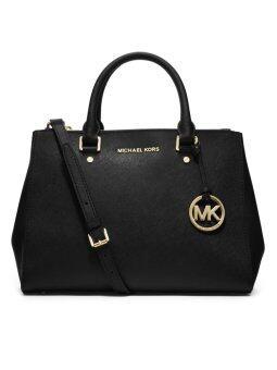 Michael Kors Sutton Medium Black Saffiano Leather