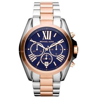 Harga Michael Kors Unisex Silver Stainless Steel Band Watch MK5606