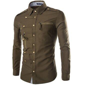 Sell Military Style Slim Fit Brand Long Sleeve Shirt For