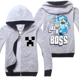 ซื้อ Minecraft Boys 4 14 Years Old Fashion Thin Cotton Sweaters Color Light Grey ออนไลน์ จีน