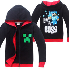 ขาย Minecraft Boys 4 14Years Old Fashion Thin Cotton Sweaters Color Black Hot Pet เป็นต้นฉบับ
