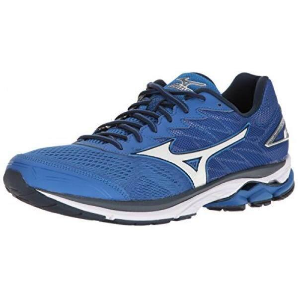 MIZUNO Pria WAVE RIDER 20 Lari Shoe, Kerajaan/Perak, 11.5 D US100 % Asli-Internasional