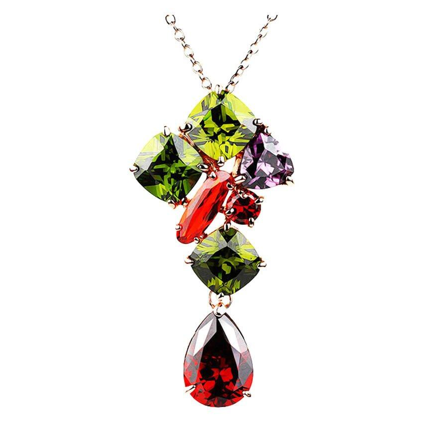 Monalisa Colourful Zirconia Necklace