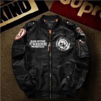 Motorcycle Luxury Brand Bomber Jackets Men Big Size Baseball SkullJacket Men Pilot MA-1 Jackets