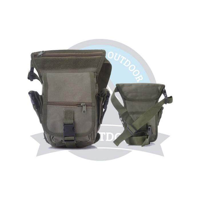 Multifunction Men Tactical Military Outdoor Pouch Sport Leg Thigh Bag Canvas Fanny Pack Purse for Travel Hiking Riding -Army Green