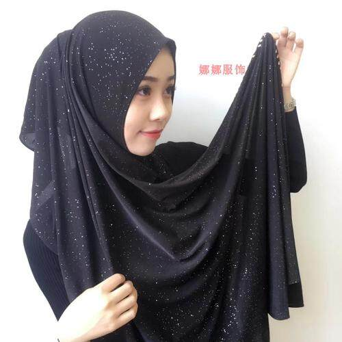 Muslem Set Serban Bintang Langit Menyebarkan Emas Maroko BURN untuk Bor Modis Jilbab-Internasional
