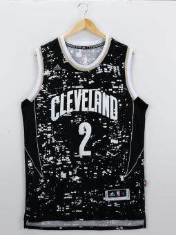 Harga NBA Kyrie Irving #2 City Swingman Cleveland Cavaliers BasketballJersey Quick Dry Hot Big Size ( Black )