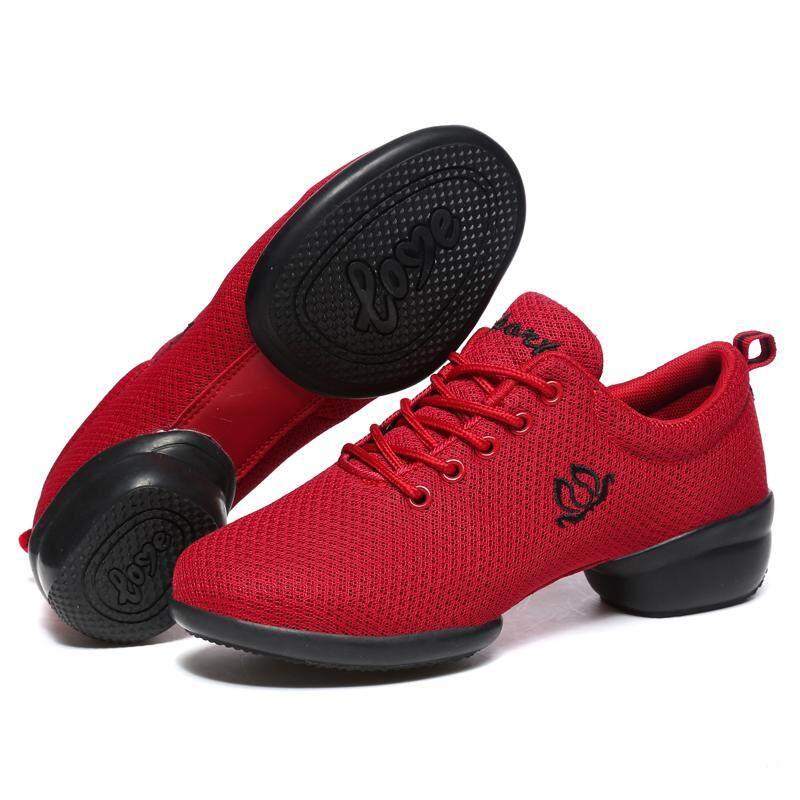 Baru 2018 Menari Sepatu untuk Perempuan Olahraga Lembut Outsole Nafas Wanita Latihan Sepatu .