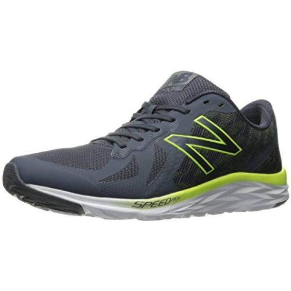 New Balance New Balance Mens M790V6 Running Shoe, Thunder/Hi Lite, 9.5 D
