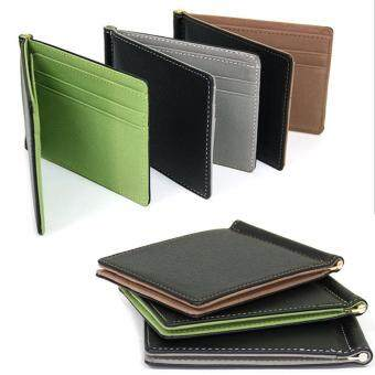 New Money Clips Men Wallet Multifunctional Colorful Ultra-thin Men Purses (Coffee) - 2