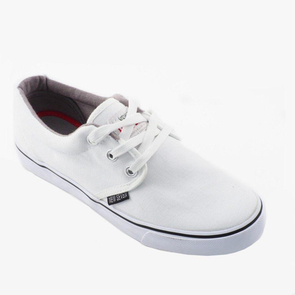 New Seven School Shoes White - WB188