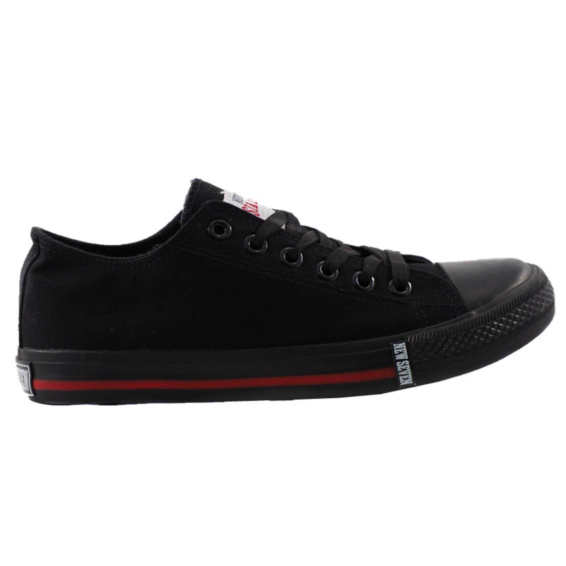 New Seven School Shoes Black - BR468
