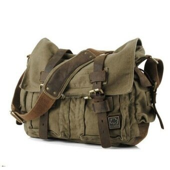 3297c636967 New Style Men bag Canvas and Leather Crossbody Bag Men Military Army Vintage  Messenger Bags Sports