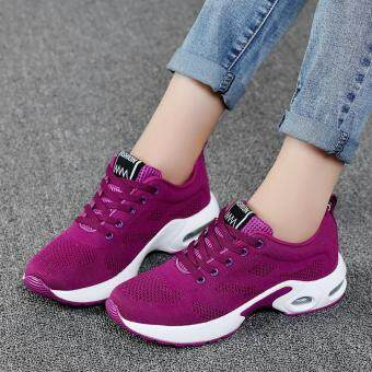 New Trendy Women Sneakers Fly Weave Breathable Women Running ShoesSoft Non-Slip Sole Womens Trainers Outdoor Sports JoggingShoes(purple)