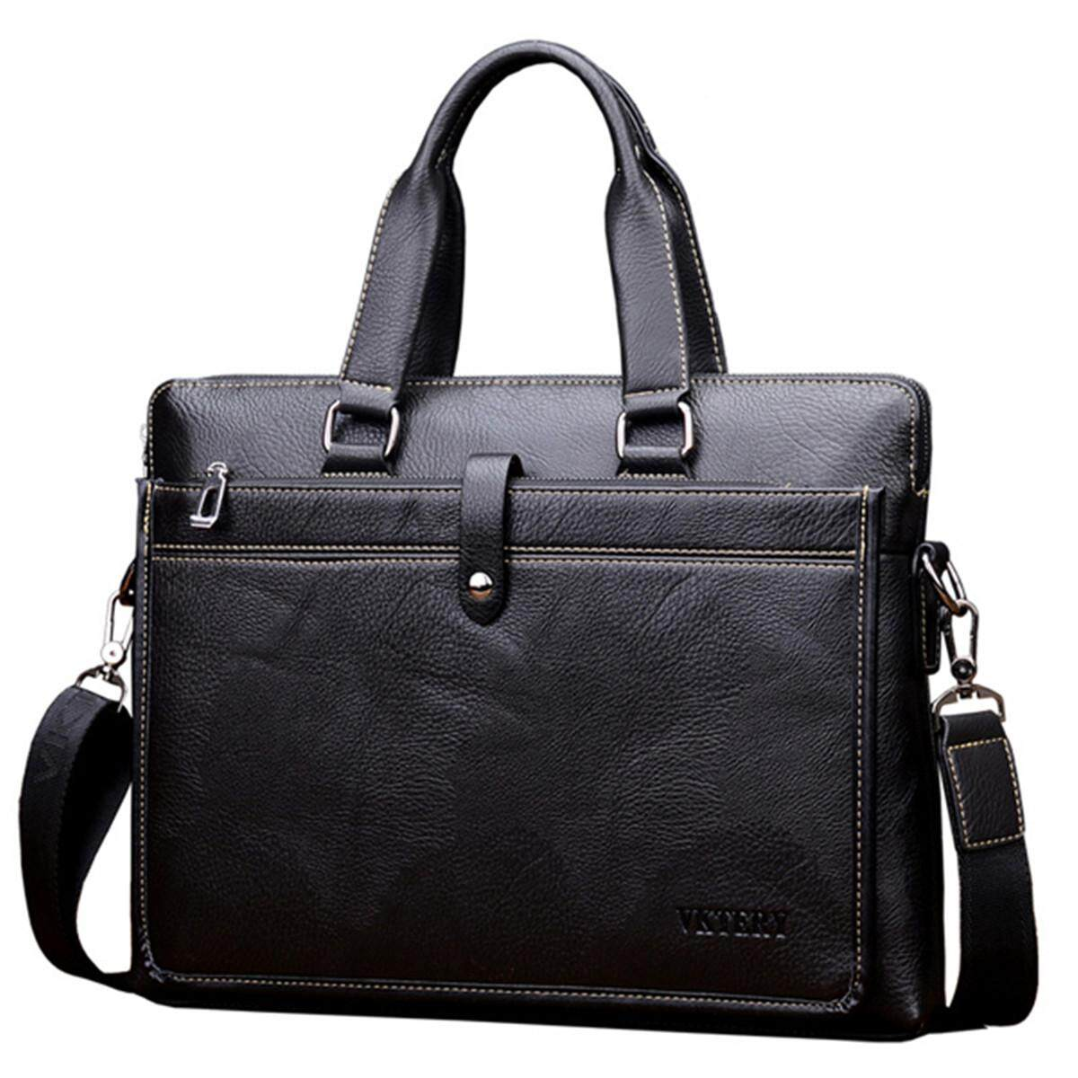 Toko New Vintage Leather Business Laptop Bag Handbag Corssbody Bag For Men Male Intl Lengkap Di Tiongkok