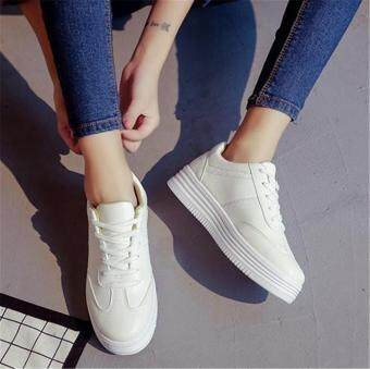 Harga New Womens Fashion Running Athletic Sport Shoes Casual BreathableSneakers Shoes WHITE