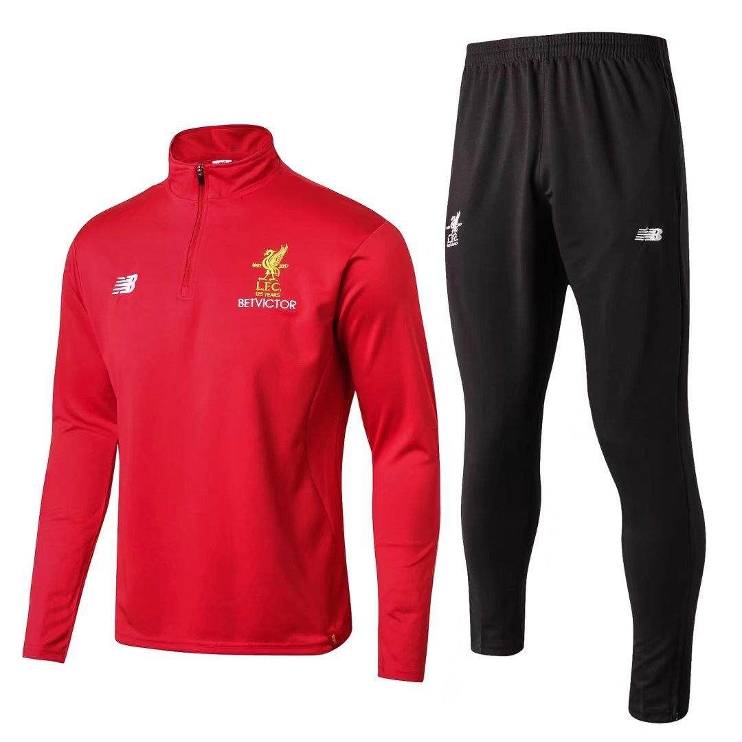 Review Newest Liverpoolfc Long Sleeve Home Jersey T Shirt And Pants Suit 2017 2018 Intl Tiongkok